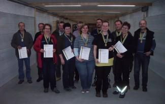 Die Sieger und Platzierten des Franz Pettliczek Gedenkschiessen 2015